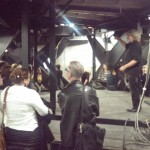 Students explore below the stage at the Schaubühne thumbnail image