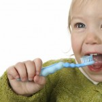 Popular storybaby brushing his teeth isolated thumbnail